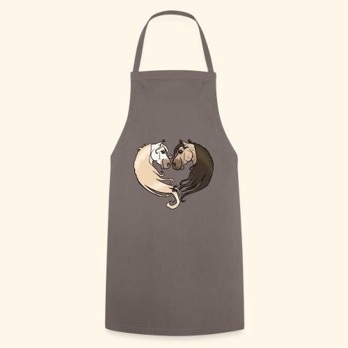 Chevaux amoureux gris-gris - Tablier de cuisine