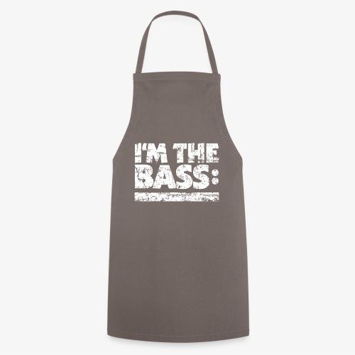 I'M THE BASS Vintage White Line - Kochschürze