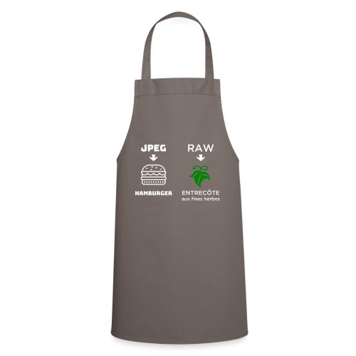 JPEG vs RAW - Delantal de cocina