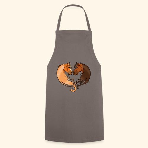 Chevaux amoureux alezan-bai - Tablier de cuisine
