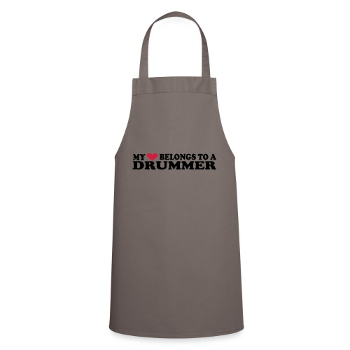 MY HEART BELONGS TO A DRUMMER - Cooking Apron