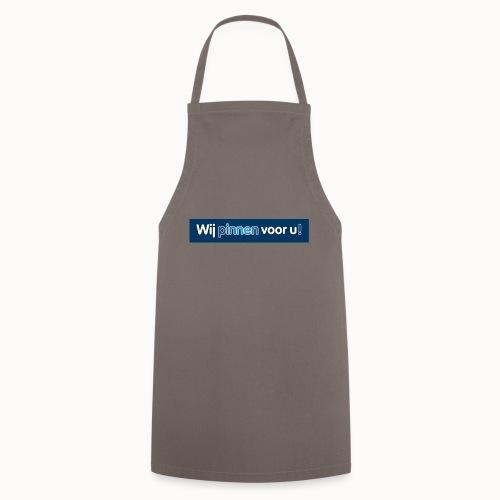 Artikelen met het nieuwe Wij Pinnen voor U logo - Keukenschort