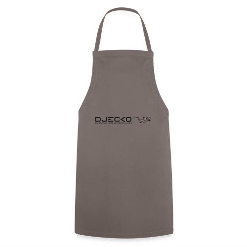 Logo rect noir txt et gecko - Tablier de cuisine