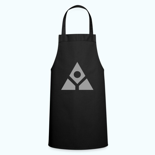 Sacred geometry gray pyramid circle in balance - Cooking Apron