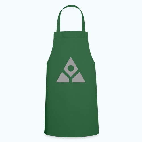 Sacred geometry gray pyramid circle in balance - Cooking Apron