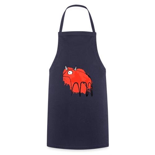 tribal red cow - Grembiule da cucina