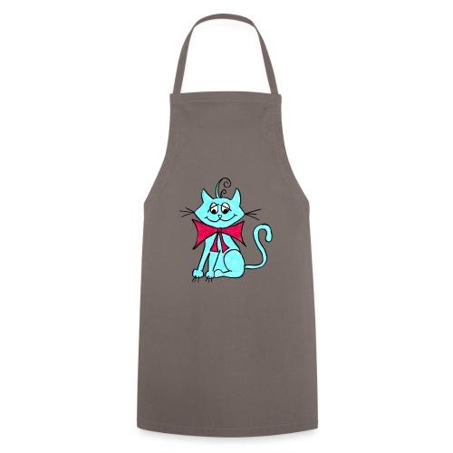 Katze blau - Kochschürze