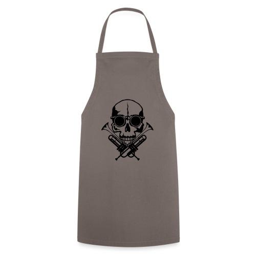 tete de mort skull crane trompette musiq - Tablier de cuisine