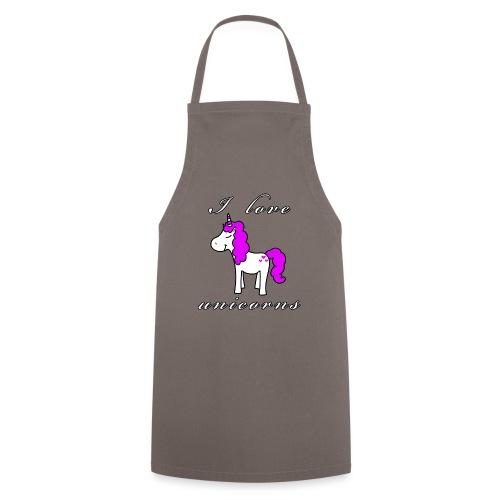 Einhorn schwarz - Kochschürze