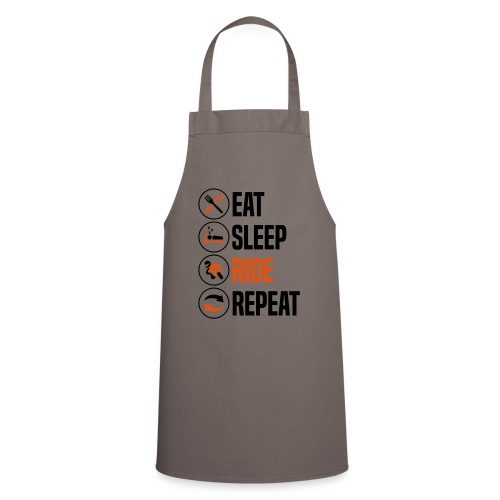 eat sleep ride repeat sportsbike 2col - Cooking Apron