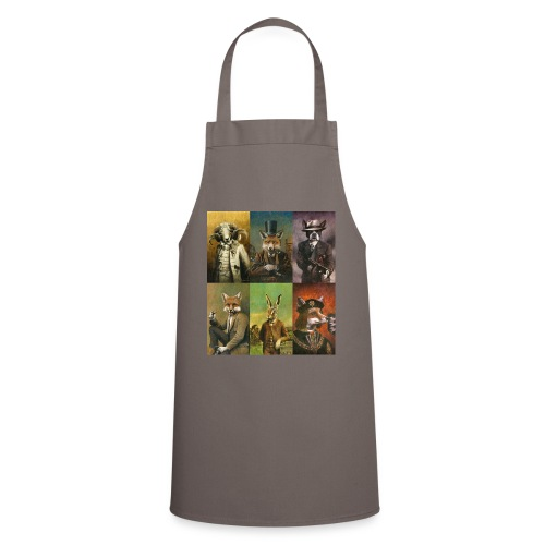 Vintage Animals In Clothes - Cooking Apron