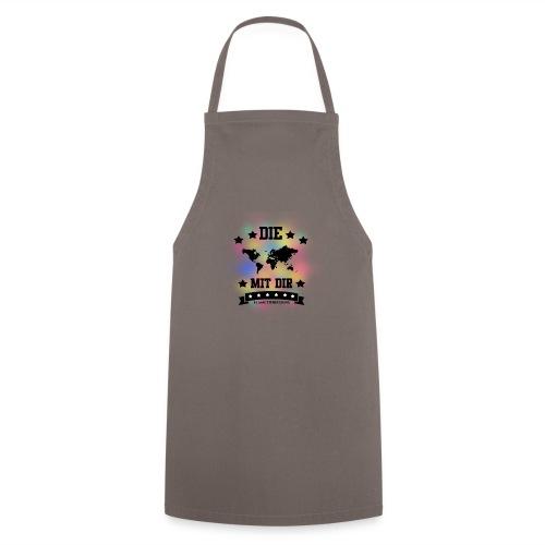 Die Welt mit dir bunt weiss - Klamottendesigns - Kochschürze