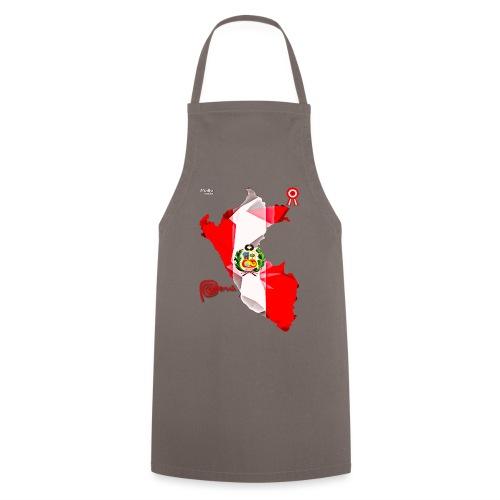 Mapa del Perú, Bandera y Escarapela - Delantal de cocina