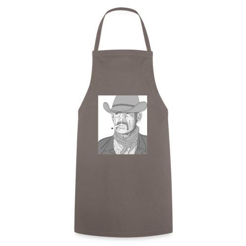 Retrato de vaquero con sombrero - Delantal de cocina