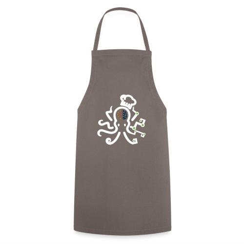DT3 Octopus - White - Kochschürze