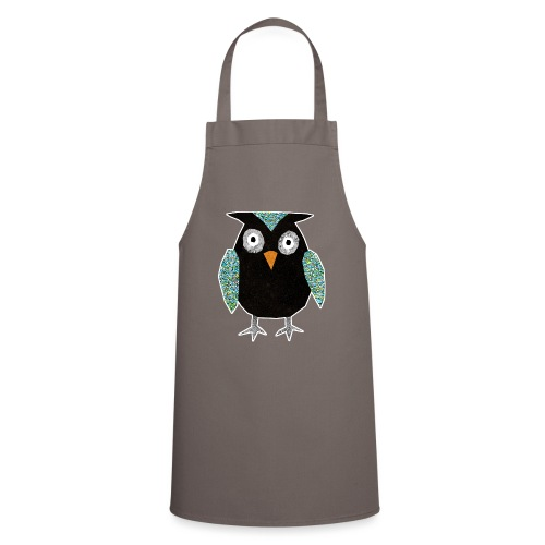 Collage mosaic owl - Cooking Apron