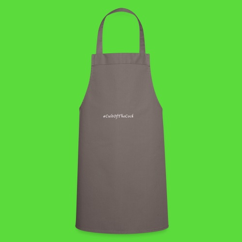 #CultOfTheCock White version. Womens Tee - Cooking Apron