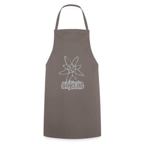 sojo.at Logo (Edelweiß und Sagzahn mit Schriftzug) - Kochschürze