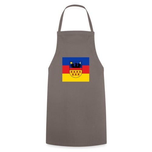 Siebenbürgen-Wappen auf blaurotgelbem Grund - Kochschürze