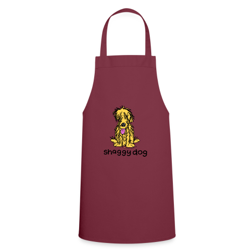 shaggy dog bang on the door - Cooking Apron