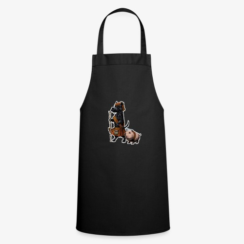 Scottie and Haggis dark t - Cooking Apron