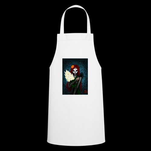 Death and lillies - Cooking Apron