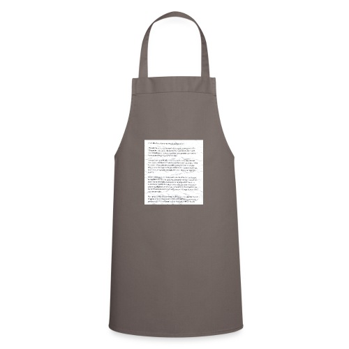 Life Quote Tee - Cooking Apron