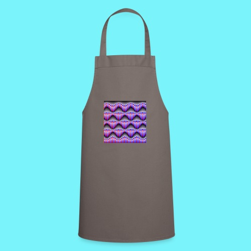 Sine waves in red and blue - Cooking Apron