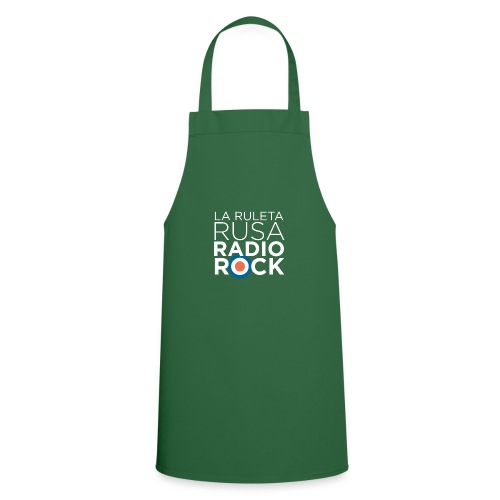 La Ruleta Rusa Radio Rock. Retrato blanco - Delantal de cocina