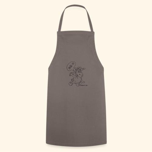 Schafbock: Weihnachtsbock - schwarz - Kochschürze