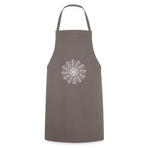 mandala geometrico bianco - Grembiule da cucina