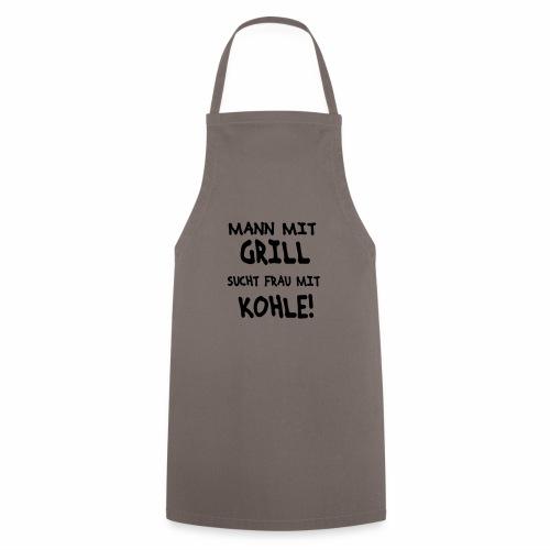 Mann mit Grill - Kochschürze