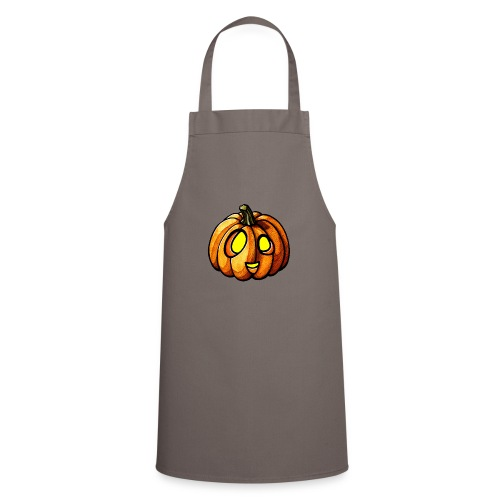 Pumpkin Halloween watercolor scribblesirii - Cooking Apron