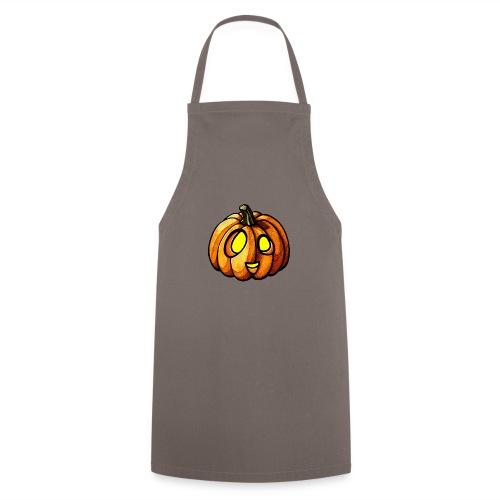 Pumpkin Halloween watercolor scribblesirii - Delantal de cocina