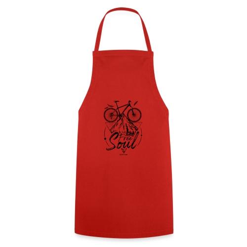 FREE SOUL black - Delantal de cocina
