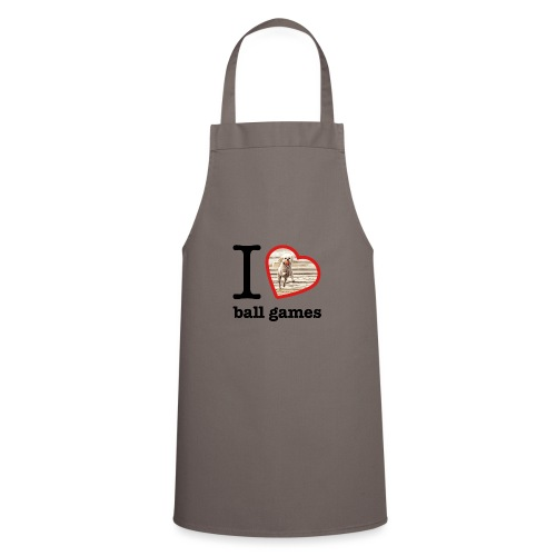 I love ball games Dog playing ball retrieving ball - Cooking Apron