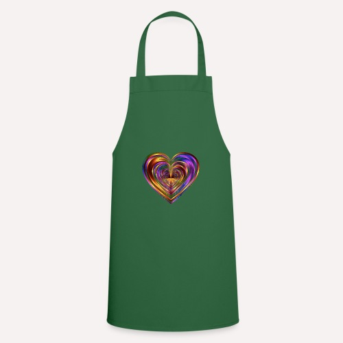 Colorful Love Heart Print T-shirts And Apparel - Cooking Apron