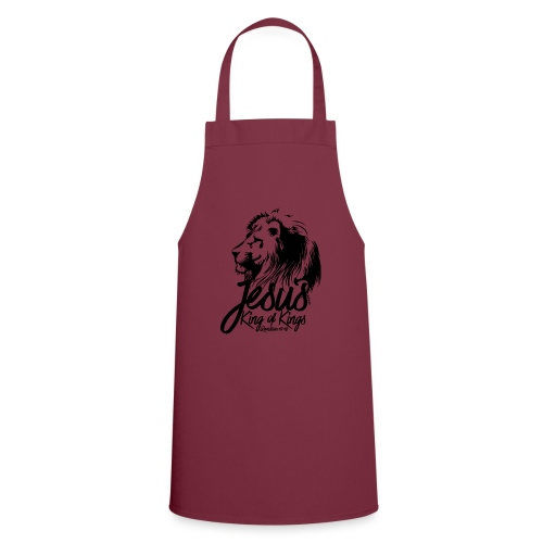 LION - JESUS KING OF KINGS // Black - Cooking Apron