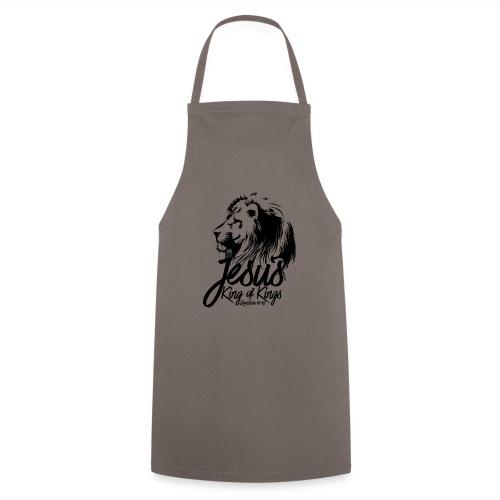 LION - JESUS KING OF KINGS // Black - Cooking Apron