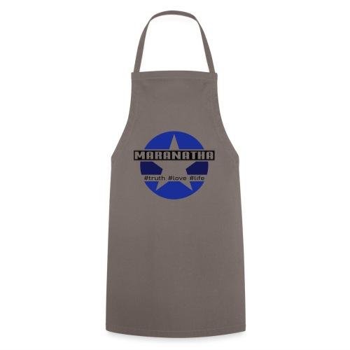 maranatha blau-braun - Kochschürze