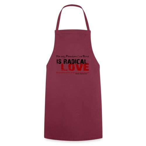 Radikale Liebe black - Kochschürze