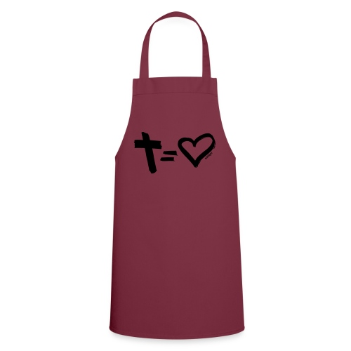 Cross = Heart BLACK // Cross = Love BLACK - Cooking Apron