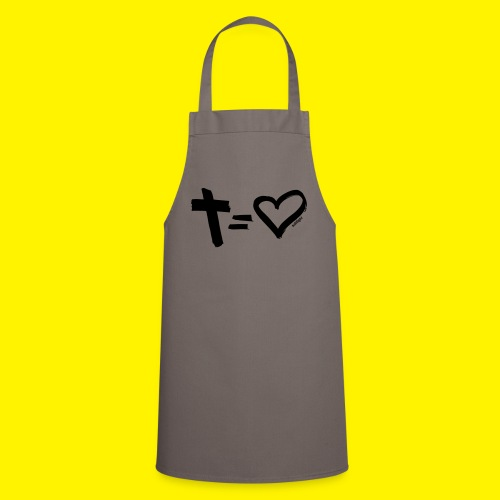 Cross = Heart BLACK - Cooking Apron