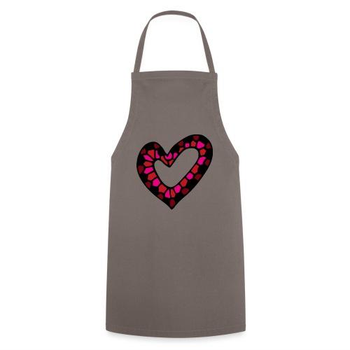 Herz Mosaik Buntglas - Kochschürze