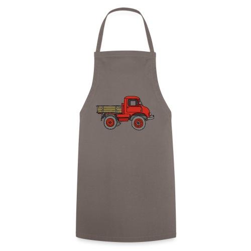 Roter Lastwagen, LKW, Laster - Kochschürze