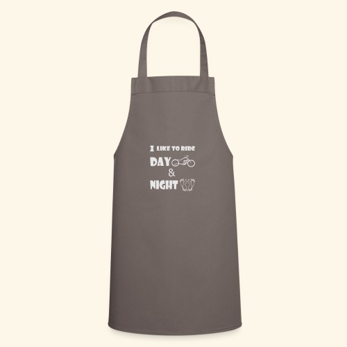 Ride day and night,moto le jour,amour la nuit - Cooking Apron