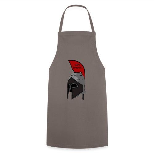 Casque spartiate anti-féministe rouge et noir - Tablier de cuisine