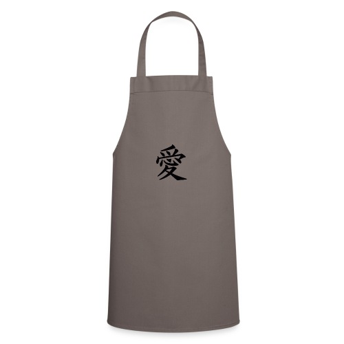 chinese characters kanji symbol love lette - Tablier de cuisine