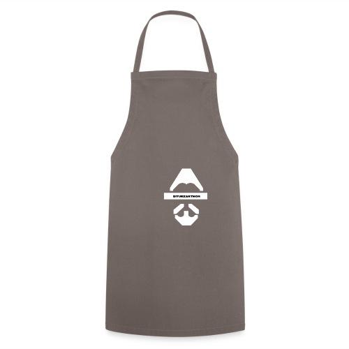 Biturzartmon Logo weiss glatt - Kochschürze