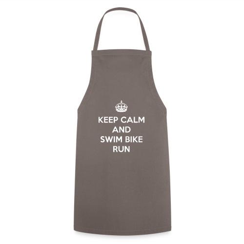Keep Calm and Swim Bike Run - Fartuch kuchenny